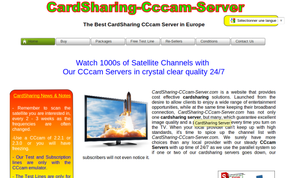 cardsharing-cccam-server